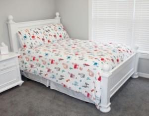 Thro Larry Llama Flannel Fleece 3 Piece Full/Queen Comforter Set