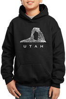 LOS ANGELES POP ART Los Angeles Pop Art Largest Cities And Parks In Utah Hoodie-Big Kid Boys