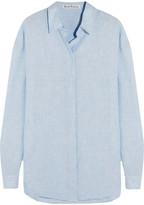Acne Studios Bela Slub Linen Shirt - Sky blue
