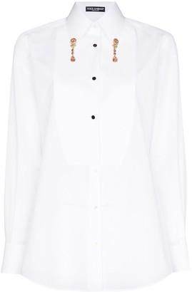 Dolce & Gabbana crystal-embellished shirt