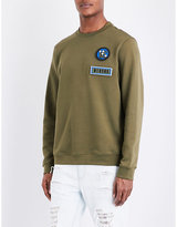Versace Versus Logo-embroidered Cotton-jersey Jumpers