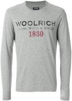 Woolrich long sleeved logo T-shirt