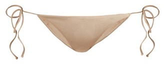 JADE SWIM Tie-up Bikini Briefs - Nude