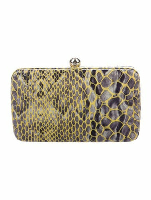 Tory Burch Embossed Suede Clutch Green