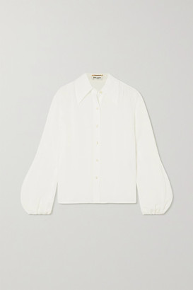 Saint Laurent Silk Crepe De Chine Blouse - Ivory
