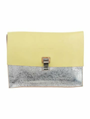 Proenza Schouler Large Lunch Clutch w/ Tags Yellow