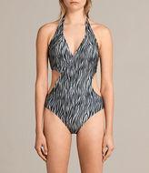 AllSaints Aurie Zebra Swimsuit