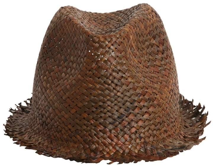 Isabel Benenato Papyrus Woven Paper Hat