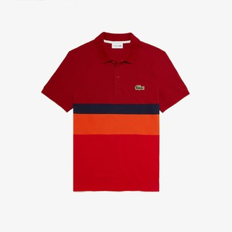 Lacoste Men's Regular Fit Colorblock Cotton Pique Polo