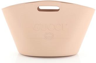 Gucci Logo Tote Rubber Large
