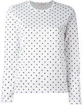 Comme des Garcons polka dot longsleeved T-shirt