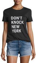DKNY Don't Knock New York Jersey Tee. Black