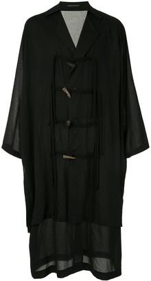 Yohji Yamamoto Oversized Rope Toggle Coat