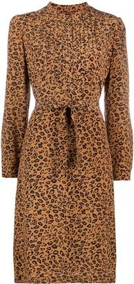 A.P.C. leopard-print A-line dress