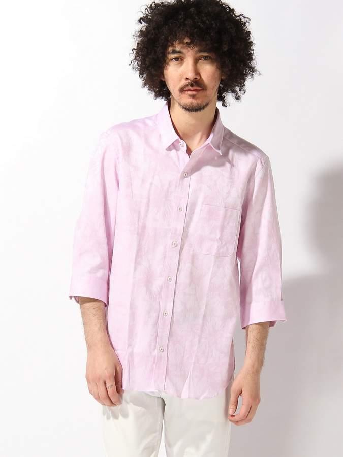 Men's Bigi (メンズ ビギ) - MEN'S BIGI へリンボンフラワージャガードシャツ/7分袖 メンズ ビギ シャツ/ブラウス
