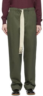 Loewe Khaki Drawstring Trousers