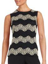 Nipon Boutique Contrast Crochet Shell