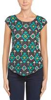 Calypso St. Barth Rocky Beaded Linen T-shirt.