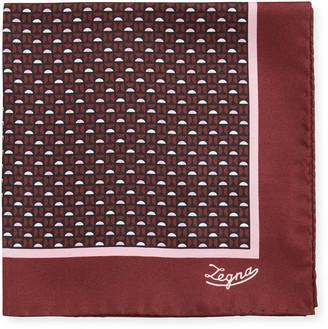 Ermenegildo Zegna Men's Semicircle Silk Pocket Square