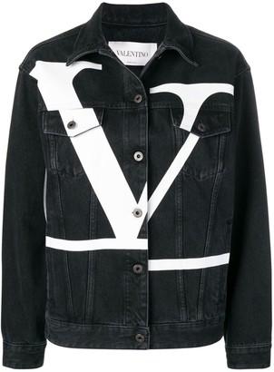 Valentino Deconstructed VLOGO denim jacket