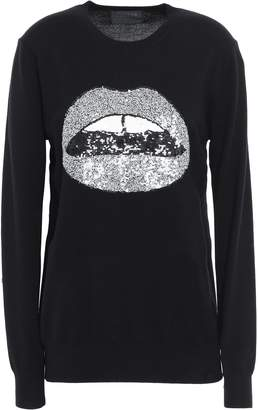 Markus Lupfer Sequin-embellished Merino Wool Sweater