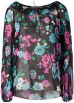 Saint Laurent floral print blouse - women - Silk - 40