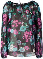 Saint Laurent floral print blouse