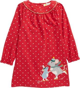 Boden Mini Big Applique Long Sleeve Jersey Dress
