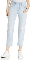 Levi's 501 Crop Tapered Jeans in Bowie Blue