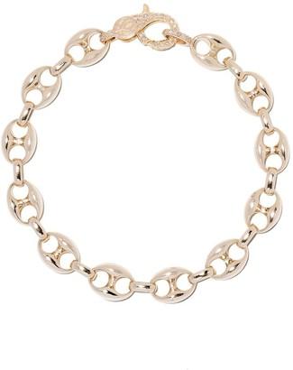 Loree Rodkin 14kt gold diamond Anchor link bracelet