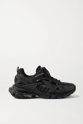Balenciaga Track 2 Logo-detailed Mesh And Rubber Sneakers - Black