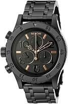 Nixon Women's A404957 38-20 Chrono Analog Display Japanese Quartz Black Watch