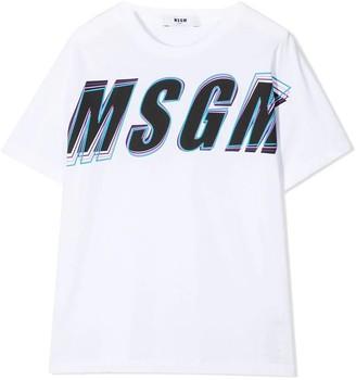 MSGM Graphic Logo Print T-shirt