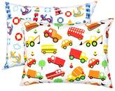 YourEcoFamily Top Quality Toddler Pillowcases - 100% Certified Organic Cotton - Soft, Comfy, Colorful, Naturally Hypoallergenic - Boys 2 Pack