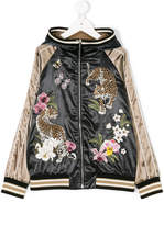 Dolce & Gabbana leopard embroidered bomber jacket