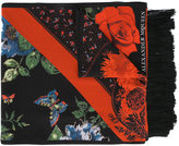 Alexander McQueen floral tablecloth scarf - women - Silk - One Size