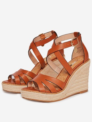 Dorothy Perkins Rolly Ankle Wedge - Tan