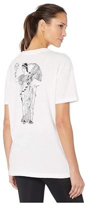Nike Dry Tee Short Sleeve (White) Women's Clothing