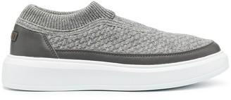 Peserico Knit Slip-On Sneakers
