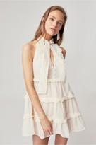 C/Meo Collective BREAK IN TWO SHORT SLEEVE DRESS cream w ivory