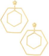 Eddie Borgo Hexagonal Hoop Earrings