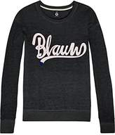Scotch & Soda R ́Belle Girl's Burn Out Sweat With Blauw Artworks Sweatshirt,(Manufacturer Size: 10)