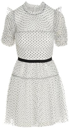 Self-Portrait Polka-Dot Tulle Mini Dress