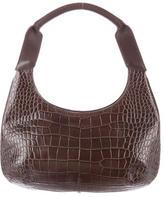 Salvatore Ferragamo Embossed Leather Shoulder Bag