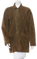 Loro Piana Suede Button-Up Coat