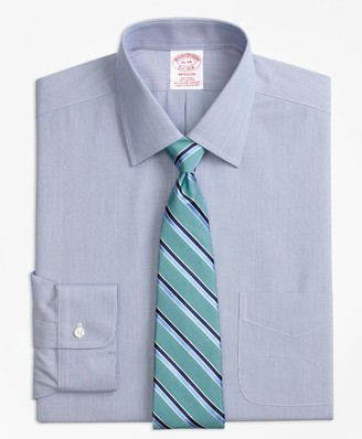 Brooks Brothers Stretch Madison Classic-Fit Dress Shirt, Non-Iron Hairline Stripe