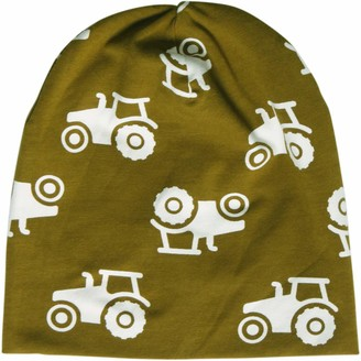 Fred's World by Green Cotton Baby Boys' Tractor Beanie hat
