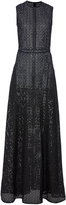 Christian Siriano Black Open Weave A-Line Gown
