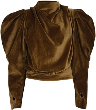V. de. Vinster. - Sirvansa Bronze Velvet Top - S