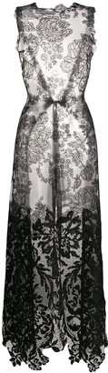 Vera Wang Long Lace Blouse